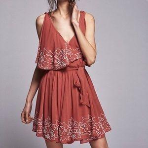 free people sylvia beaded wrap dress